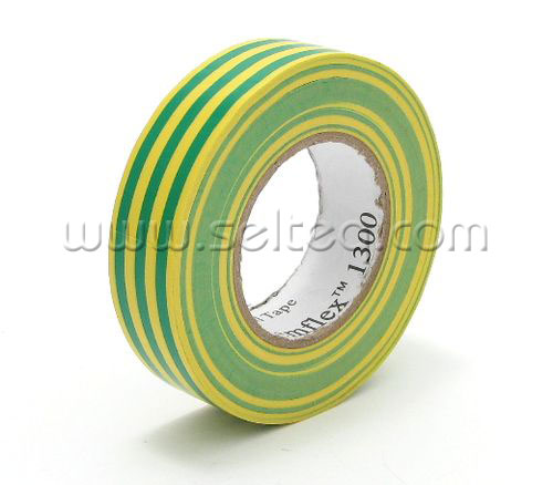 Изолента темфлекс желто-зеленая